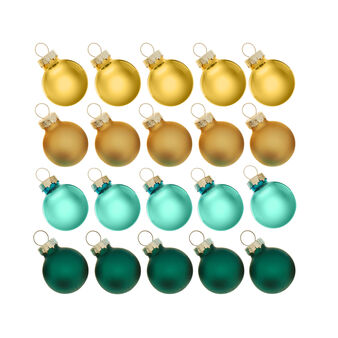 Set of 20 Christmas baubles in multicoloured glass D 2cm