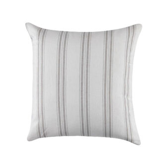 Cuscino puro cotone tinto filo a righe