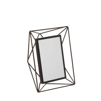 Metal and glass photo holder