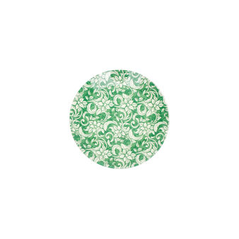 Small glass plate with floral decoration