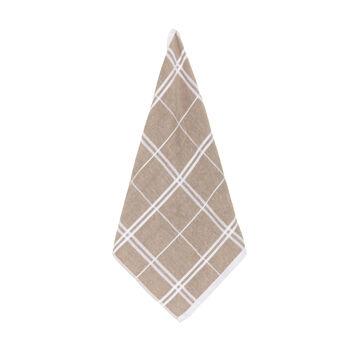 Cotton terry check tea cloth