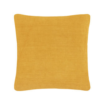 Washed linen cushion