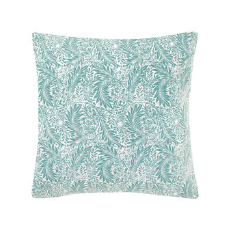 Cotton cushion with leaves pattern
