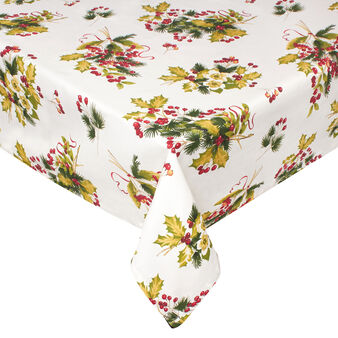 100% cotton tablecloth with Berry print