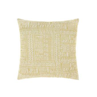 Cuscino cotone e viscosa lavorato jacquard