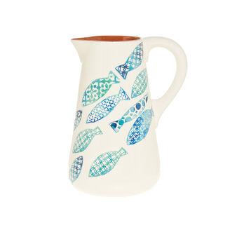 Caraffa ceramica portoghese decorazione pesci