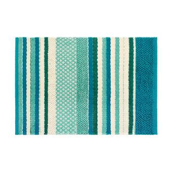 Tappeto bagno in cotone effetto patchwork