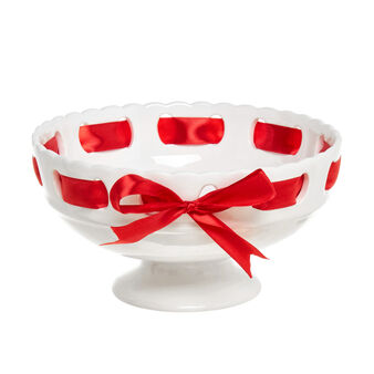 Ceramic bowl with ribbon
