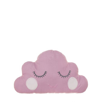 Cloud cushion in pink microfleece