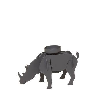 Rhinoceros iron candle holder