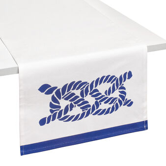 100% cotton nautical-style table runner