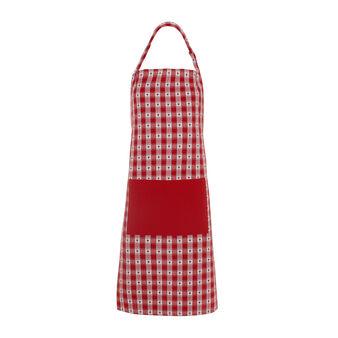 Bib apron with jacquard weave