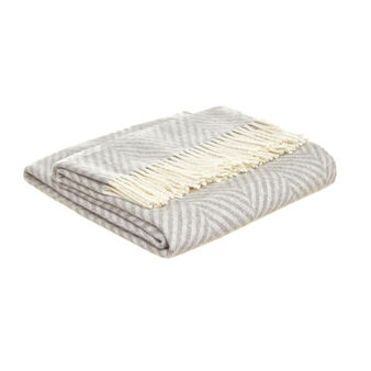 Cotton blend throw with striped pattern