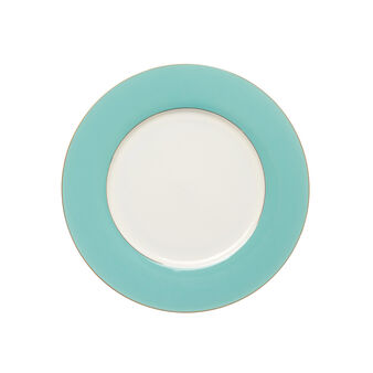 Round plate in new bone china porcelain
