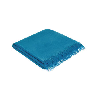 Mohair effect  throw with fringes