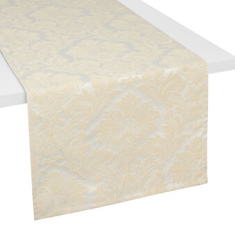 Gobelin table runner with lurex