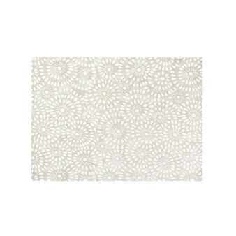 2-pack cotton table mats with lace-effect print