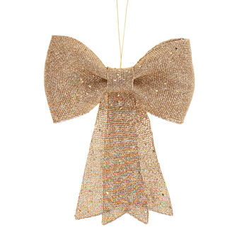 Pink gold glitter decorative bow