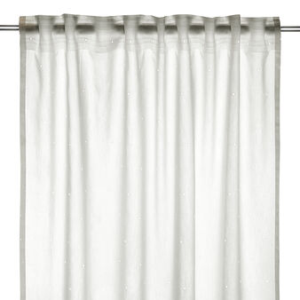 Curtain with broderie anglaise embroidery