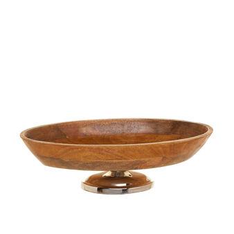 Coppa ovale in legno di mango