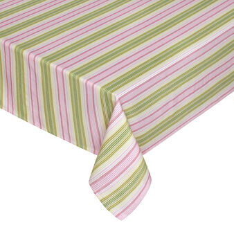 Yarn-dyed, striped tablecloth in 100% cotton