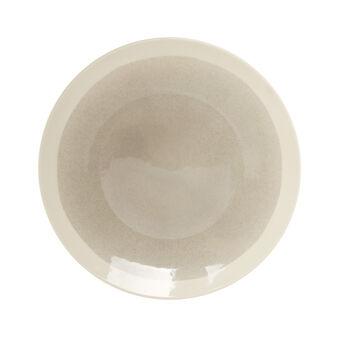 Piatto rotondo da portata in ceramica decorata Soleil