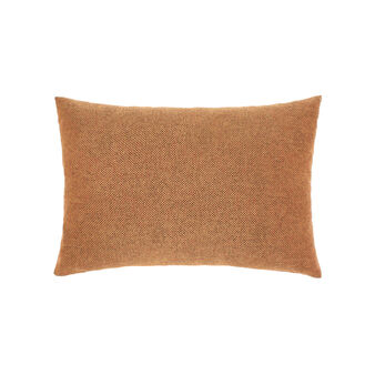 Rectangular cotton and viscose cushion