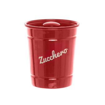 Red iron ZUCCHERO jar