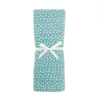 Cotton gauze towel with star pattern