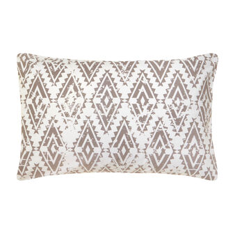 Cotton percale pillowcase with ethnic pattern