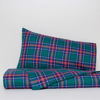 Tartan duvet cover in 100% cotton twill