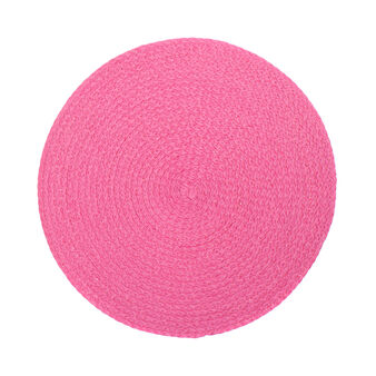 Concentric round paper table mat