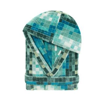 Accappatoio puro cotone jaquard mosaico