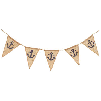 Decorative jute flags