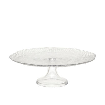 Cake stand in sparkling glass