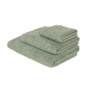 Zero twist jacquard towel