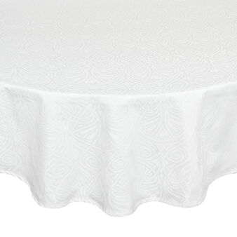 Round tablecloth in 100% Egyptian cotton