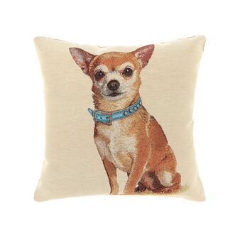 Gobelin cushion with chihuahua pattern