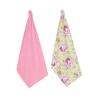 2-pack Blossom tea towels in 100% cotton