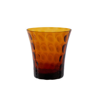 Textured glass water tumbler