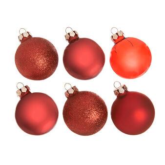 Set sei 6 palline natalizie in vetro colorato D 5cm
