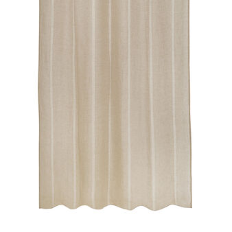 Curtain in 100% linen with laces