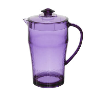 Coloured plastic carafe with lid