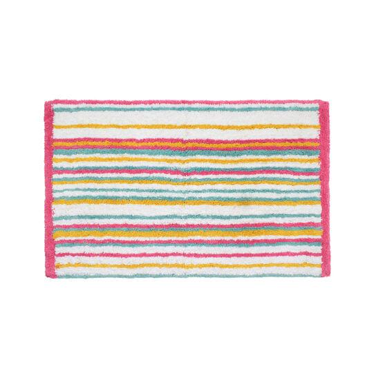 Tappeto bagno spugna cotone a righe - coincasa