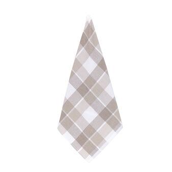Cotton terry tartan tea cloth