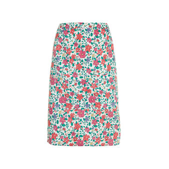 Waist apron in cotton with flowers print