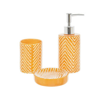 Set accessori bagno in ceramica a pois
