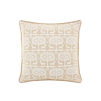 100% cotton cushion with reindeer pattern