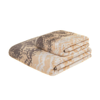 Patterned velour towel in 100% cotton