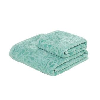 Asciugamano in velour jacquard